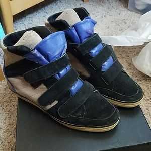 Coach wedged sneakers size 9